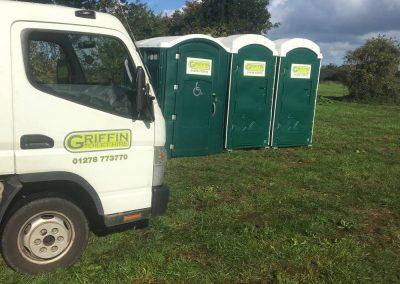 event portables being deliveredd